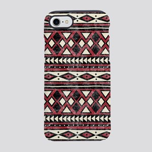 Black Red African Pattern iPhone 7 Tough Case