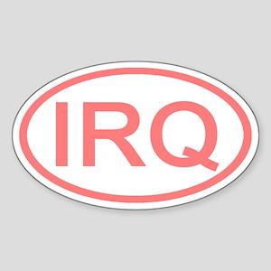 Iraq - IRQ Oval Oval Sticker
