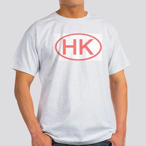 Hong Kong - HK Oval Ash Grey T-Shirt