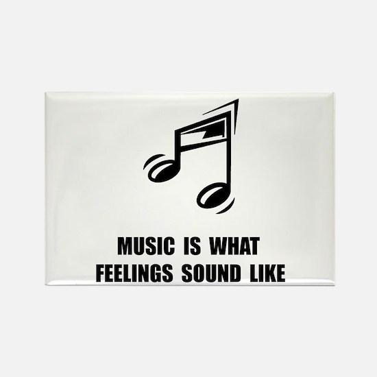 Music Feelings Rectangle Magnet (10 pack)