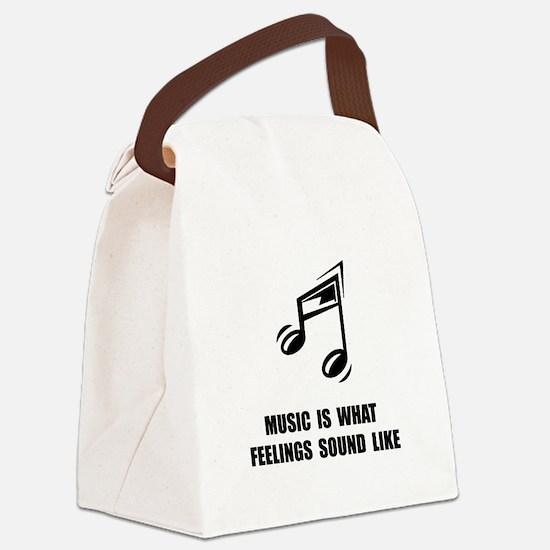 Music Feelings Canvas Lunch Bag