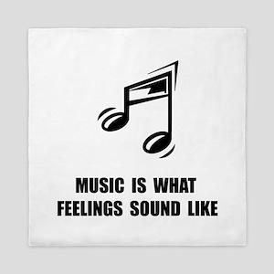 Music Feelings Queen Duvet