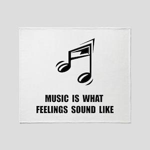 Music Feelings Throw Blanket