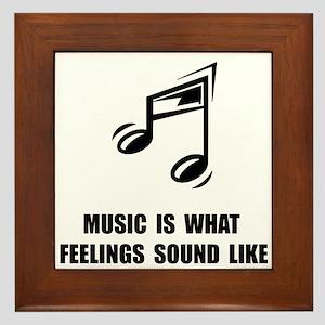 Music Feelings Framed Tile