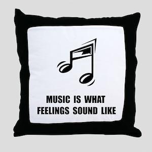 Music Feelings Throw Pillow