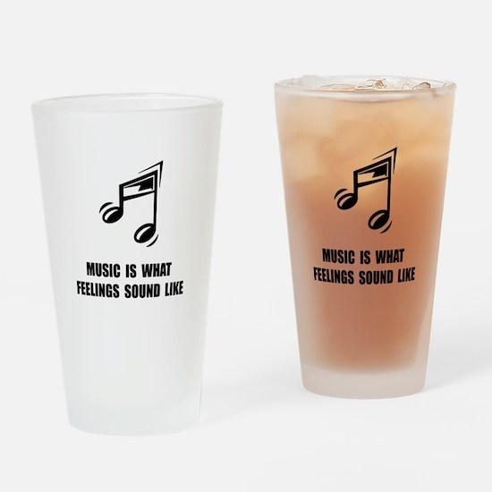 Music Feelings Drinking Glass