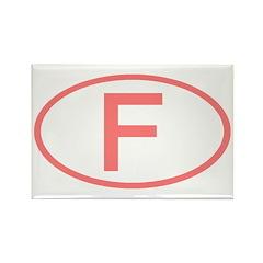 France - F Oval Rectangle Magnet (100 pack)