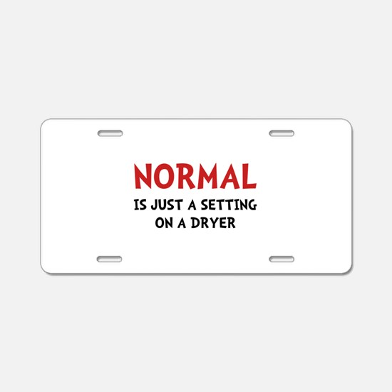 Normal Dryer Aluminum License Plate