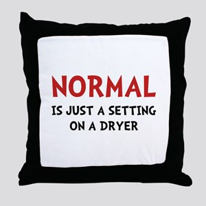 Normal Dryer Throw Pillow