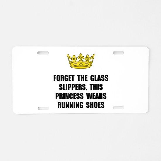 Princess Run Aluminum License Plate
