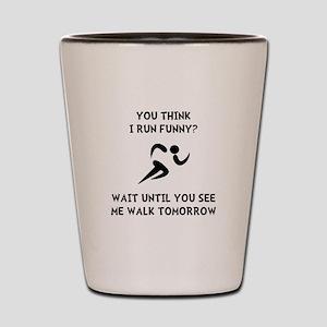 Run Walk Funny Shot Glass
