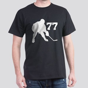 Hockey Player Number 77 Dark T-Shirt