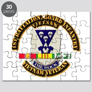 Army - 1st Battalion, 503rd Infantry w SVC Ribbons
