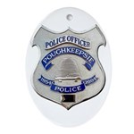 Poughkeepsie Police Ornament (Oval)