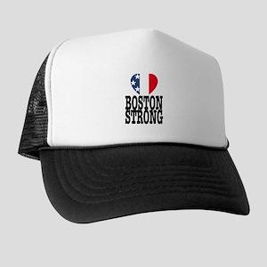 Boston Strong USA Heart Trucker Hat