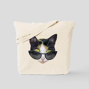 Cat Sunglasses Tote Bag