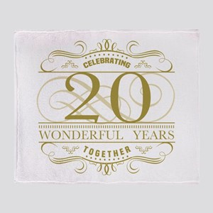 Celebrating 20th Anniversary Throw Blanket