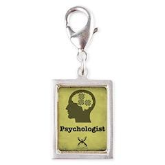 Psychologist Silver Portrait Charm