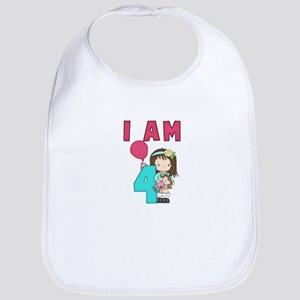 I AM FOUR Bib