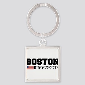 BOSTON STRONG U.S. Flag Keychains