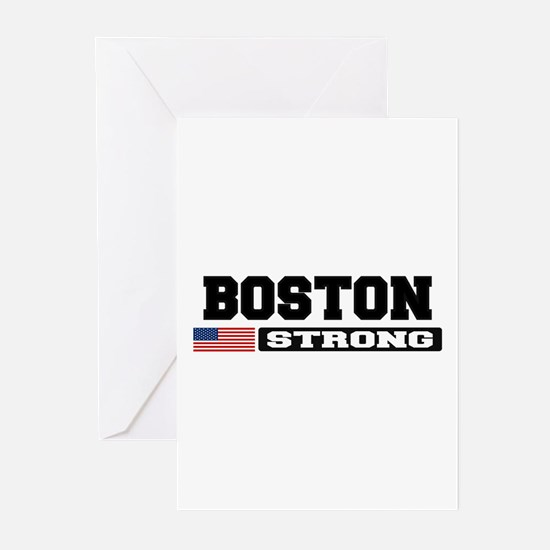 BOSTON STRONG U.S. Flag Greeting Cards (Pk of 10)