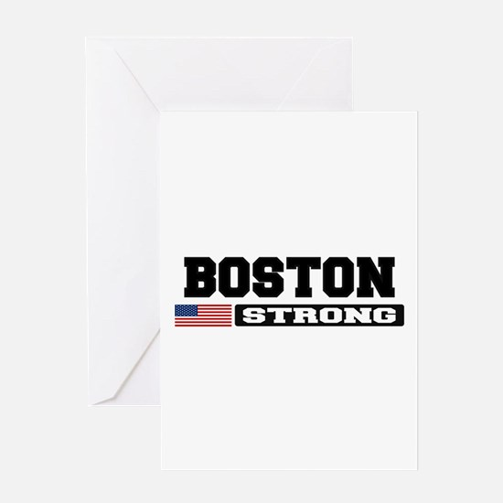 BOSTON STRONG U.S. Flag Greeting Card