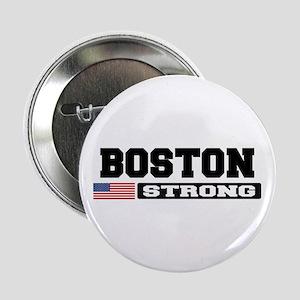 "BOSTON STRONG U.S. Flag 2.25"" Button"