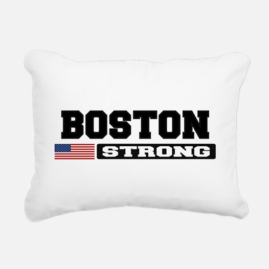 BOSTON STRONG U.S. Flag Rectangular Canvas Pillow