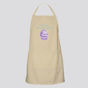 THE BABY WANTS A CUPCAKE PURPLE Apron