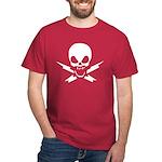 Lightning Bolt Jolly Roger Blood Red T-Shirt