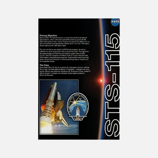 STS 115 Shuttle Mission Poster Rectangle Magnet