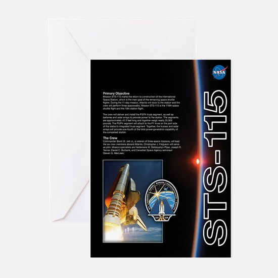 STS 115 Mission Poster Greeting Cards (Pack of 10)