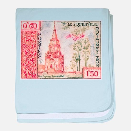 1959 Laos That Ing Hang Stupa Postage Stamp baby b