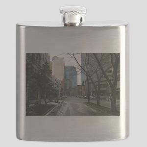 Wet Street in Downtown Edmonton Flask