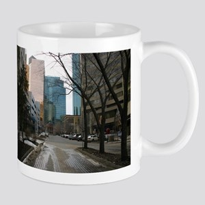 Wet Street in Downtown Edmonton Mug