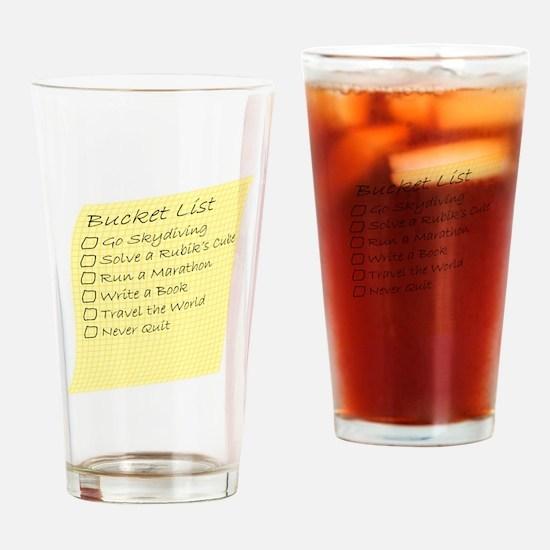 Bucket List Drinking Glass
