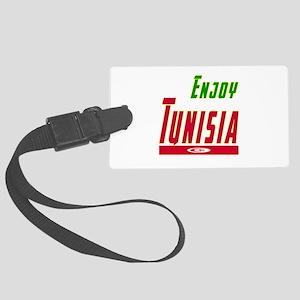 Enjoy Tunisia Flag Designs Large Luggage Tag