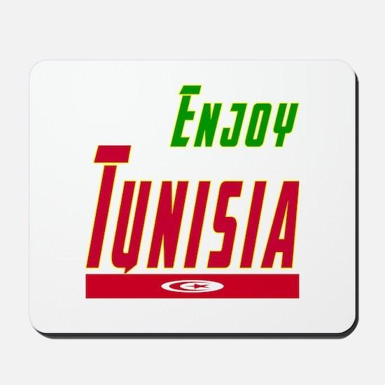 Enjoy Tunisia Flag Designs Mousepad