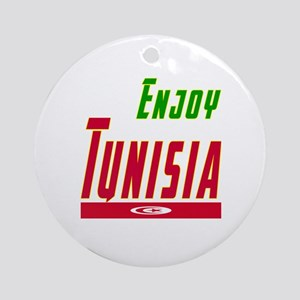 Enjoy Tunisia Flag Designs Ornament (Round)