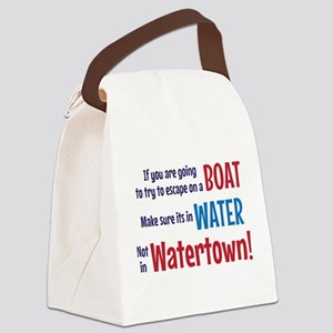 Escape from Watertown Canvas Lunch Bag
