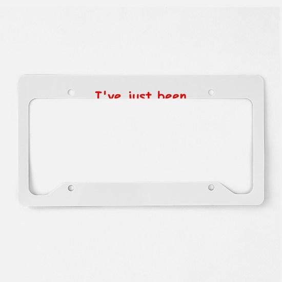 writing joke License Plate Holder