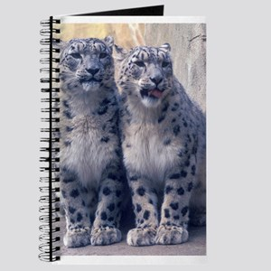 Twin Snow Leopard Cubs Journal