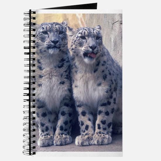Twin Snow Leopard Cubs Journal