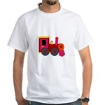 Train All Aboard White T-Shirts