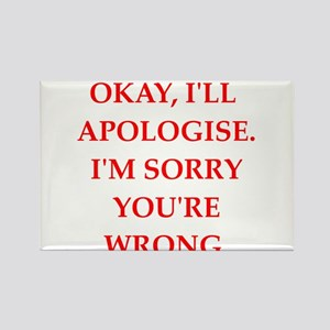 apologise Rectangle Magnet