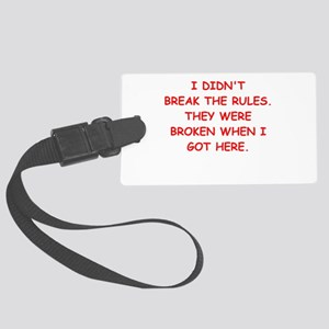 rules Luggage Tag