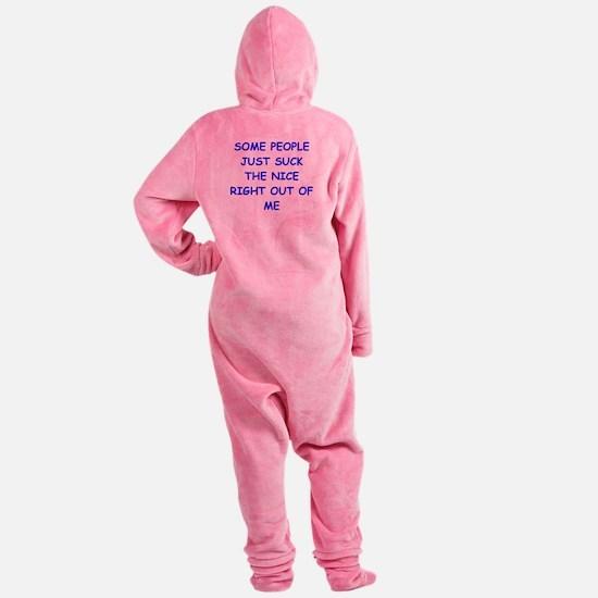 i hate people Footed Pajamas