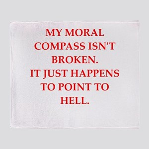 immoral Throw Blanket