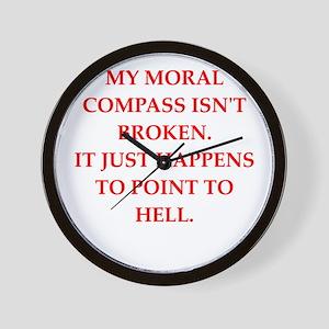 immoral Wall Clock