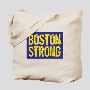 Boston Strong Yellow & Blue Tote Bag